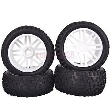 RC 1/10 Off-Road Car Buggy Front &Rear Rubber Tyre Tires White Wheel 66011-66031