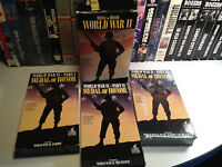 Medal Of Honor Lot of 3 Rare WW II Documentary VHS OOP HTF Box Set War Heroes