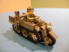LEGO LOT #50 CUSTOM WW2 WORLD WAR 2 GERMAN KETTENKRAD WITH MINI FIGURE MP3 GUN