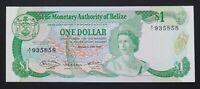 Belize 1 Dollar Banknote~1980 Jabiu Stork/Elizabeth II~P#38a~aUNC~S/N A/1 935858