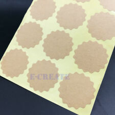38mm Vintage Blank & Lacy Kraft Label Sticker for Bakery Gift Wrap,Bags 150pcs