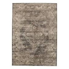 Tapis Vintage Médaillon Brun - 200x290 cm N112