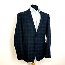 Sondergaard Mens Suit 44L 36W 30L Blue Check Slim Fitted SSJF712