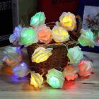 2.2m M 20 LED Luces Flor Rosa Hada Fiesta Boda Navidad Cuerda Batería Jardín