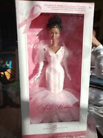 Pink Ribbon Black Barbie Collector Doll AA Pink Label #K7813 New 2006 Mattel