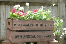 PERSONALISED APPLE CRATE -(Message included in the price)