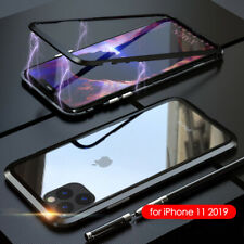Magnetic Adsorption Case For iPhone 11 / Pro / Max Xs Xr SE Tempered Glass Cover
