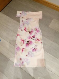 City Godess Pink Floral Midi Dress Size 14