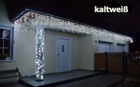 500 LED Eiszapfen Lichterkette Eisregen Weihnachtsbeleuchtung ***kaltweiß***