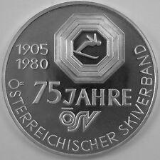 """Österreich 500 Schilling 1980 Silber Casinos Austria """"75 Jahre ÖSV"""""""
