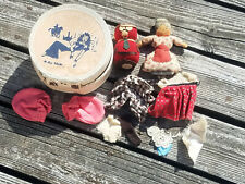 *Air Flite* Vintage Sleeping Beauty Doll Case w/ Antique Dolls Clothes & More