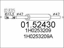 SILENCIEUX INTERMéDIAIRE POUR VW GOLF III 1.4,1.8,1.6,1.9 D,VENTO 1.9 D