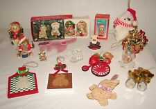 Lot Vintage Plastic Christmas Ornaments Bears Cats Dogs Animals