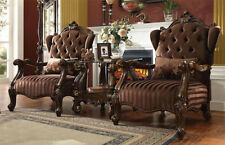 Merveilleux NEW 3PC REVEIRO II TRADITIONAL CHERRY OAK FINISH WOOD ACCENT CHAIR SET  W/TABLE