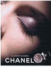 PUBLICITE ADVERTISING 114 2011 CHANEL illusion d'ombre
