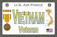 "Air Force - Vietnam  - Tough, Durable Magnetic Sign - 6"" L X 3.75"" H"