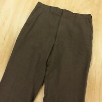 vtg usa CORBIN lightweight wool flannel dress pants 33 x 28 flat front talon zip