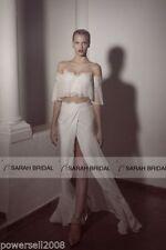 Chiffon Short Sleeve Wedding Dresses