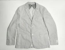 Brioni Authentic Cotton Linen Striped Blazer Men's Size XL (52 IT / 42 UK) Ivory