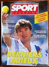 SPORT MAGAZINE du 19/11/1992; Connors - McEnroe/ Johnny Dauwe/ Pat Riley