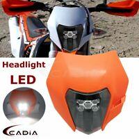 Dirt Bike MX Enduro LED Headlight Mask For KTM 150 250 300 350 450 XC-W SX-F XC