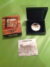 2011 Tuvalu ENDANGERED EXTINCT TASMANIAN TIGER 1oz Silver Proof Coin Perth Mint