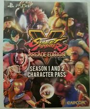 PS4 Street Fighter 5 Arcade Edition Bonus Content Card characters season 1 + 2