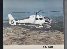 (192) Brochure hélicoptère Aircraft Helicopter aerospatiale SA 360