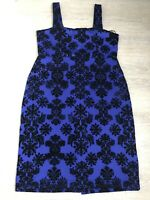 Stunning BNWT JOE BROWNS Purple Black Flocked Floral Shift Dress UK 18