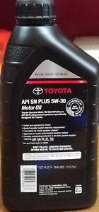 Toyota Motor Oil 5W30 Case of 6 Quarts