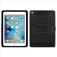 Apple Ipad Air 2 Hybrid Silicone Case Cover Stand Black