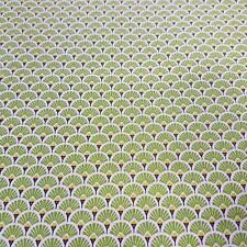 Stoff Baumwollstoff beschichtet grün Kreis Fächer Japan abwaschbar Tischdecke