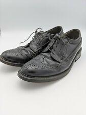 VTG Dexter Wingtip Oxfords Shoes Lace Up Leather Black Mens 10D USA