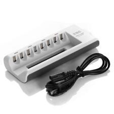 EBL 8 Bay/Slot Smart AA, AAA Ni-MH Ni-CD Rechargeable Battery Charger - Upgra...