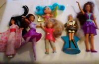 DOLLS LOT 6 Disney, Barbie, Cabbage Patch Kids, And Troll GIRL ACTION FIGURES