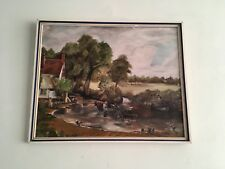 Study Of Constable Haywain Oil On Board