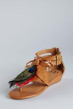 NWOB Kelsi Dagger Anthropologie Daralis Peacock Plume Sandals Size7 - Retail $99