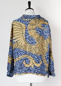 Silk Scarf Print Shirt - GRIFFIN -Vintage 1960s - Pattern Placement - Mosaic -12