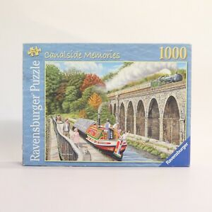Ravensburger Canal Side Memories 1000 Piece Jigsaw Puzzle, Complete & Bagged!