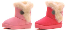 Baby Toddler Girls Pink & Hot Pink Winter Faux Fur Suede Boots - Warm Cute Snow