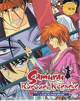 SAMURAI RUROUNI KENSHIN - ANIME TV SERIES DVD (1-95 EPIS + OVA + MOVIE)