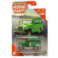 1962 Jeep Willy's Wagon Green Matchbox 2020 Moving Parts 1/64 Diecast Toy Car