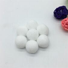 """30Pcs 1"""" 25mm Pompom Fur Craft DIY Soft Pom Poms Home Accessories White"""