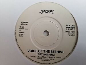 """Voice Of The Beehive - I Say Nothing - 7"""" Vinyl Single"""