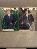 2019-20 Panini Mosaic #299 Green Refractor MVPS Stephen Curry + Insert Fast Ship