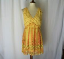 Victoria's  Secret Women's size M/M Yellow raffle pullover sheer sleeve dress