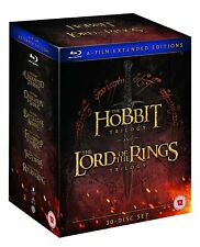 The HOBBIT & The LORD OF THE RINGS 6 FILM EXTENDED EDITIONS 30 DISC BLU RAY SET