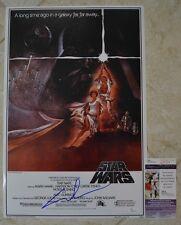 George Lucas Signed 12x18 Poster w/ JSA COA #Q49674 Star Wars