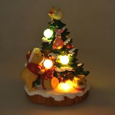 Disney Store Japan LED Light Pooh & Piglet christmas tree MICKEY'S NOEL