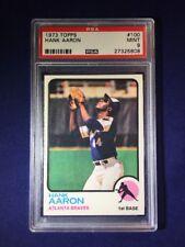 1973 Topps Hank Aaron #100 PSA 9 Atlanta Braves HOF